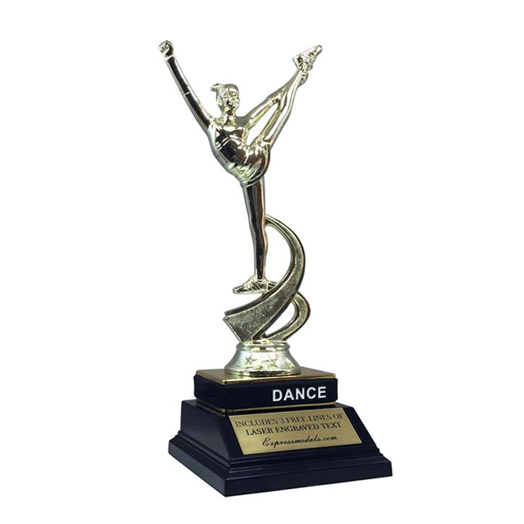 unique metal dancing trophy for chinese factory