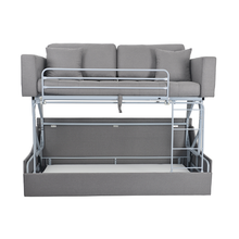 Nisco living room furniture <strong>modern</strong> metal folding frame sofa 2 in 1 foldable bunk bed