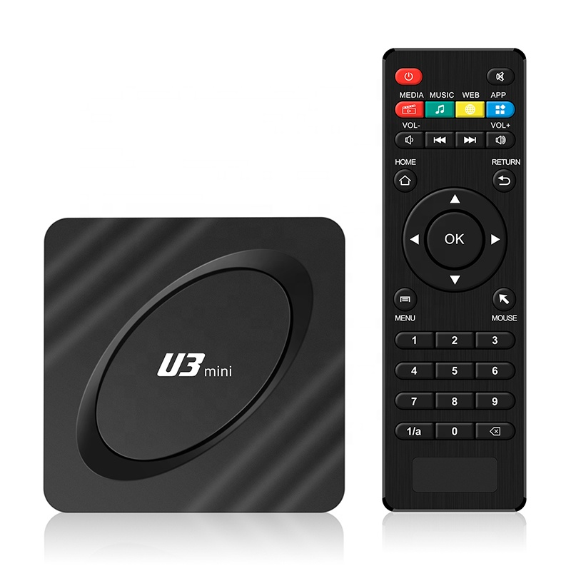Factory Price Android TV box 2020 Decodificador TV Digital 2GB 16GB Amlogic S905W U3 4K Smart TV Box Set Top Box