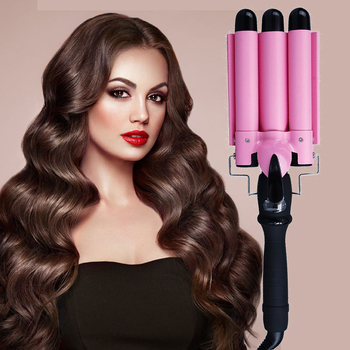 Hair Straightener with Crimping LCD Professional Triple Barrel Curling Iron Ceramic Hair Waver Big Waving Styling Tools Crimper