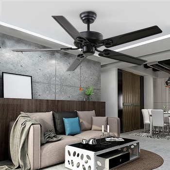 52 inch black color home decorative iron blade remote control 220v AC hampton bay westinghouse ceiling fan