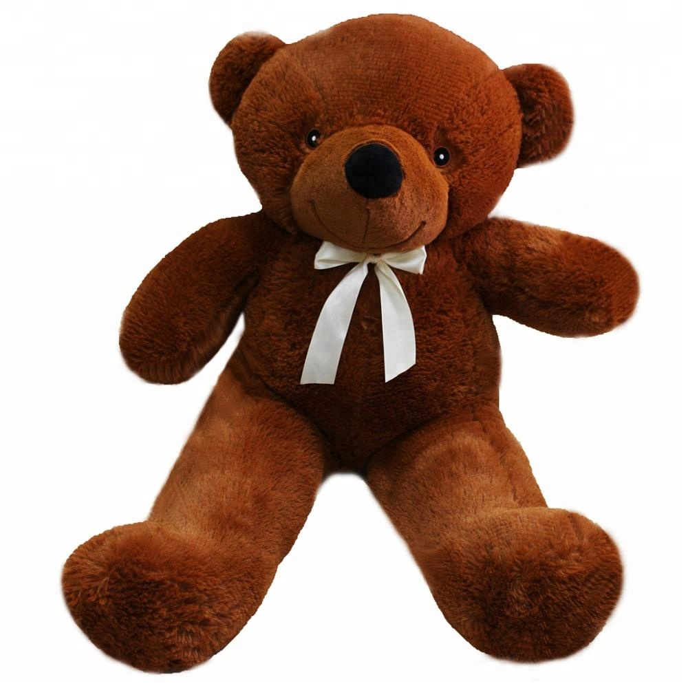 200 CM Dark brown Light Brown Kids Gift <strong>Plush</strong> Stuffed giant teddy bear with ribbon
