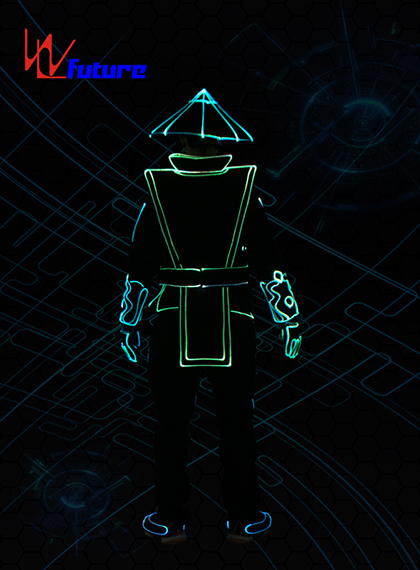 *WL-0233 Programmable LED Traditional Chinese Opera Knight Suits Fiber Optic Light Tron Dance Suits Samurai Costume Rave Clothes