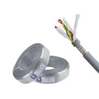 Kingmaking High Flexible twisted cable for drag chain system, bend resistant control cable 2-20 pairs available 100M/Roll