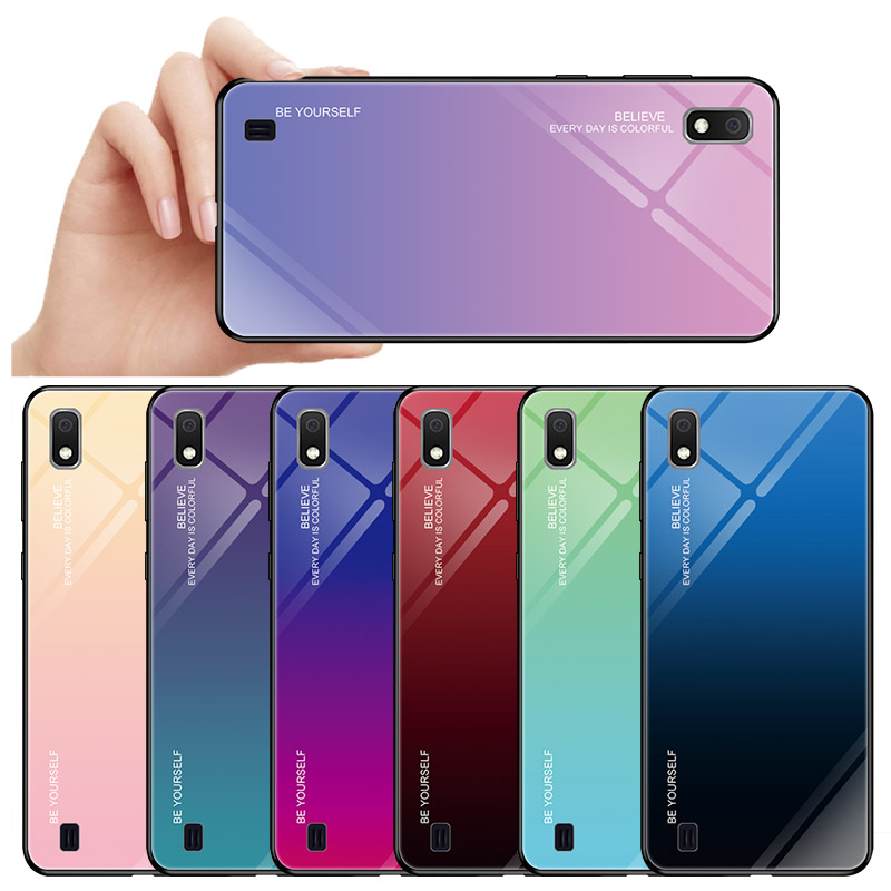 Hybrid Hard Tempered glass Phone Case Cover For Samsung Galaxy <strong>A10</strong>