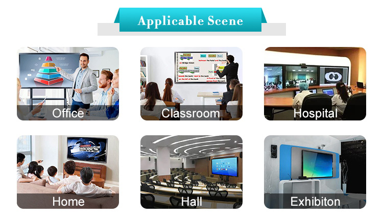 55 65 75 86 98 Inch Interactive Touch Screen Smart board and Electronic Whiteboard for Meeting