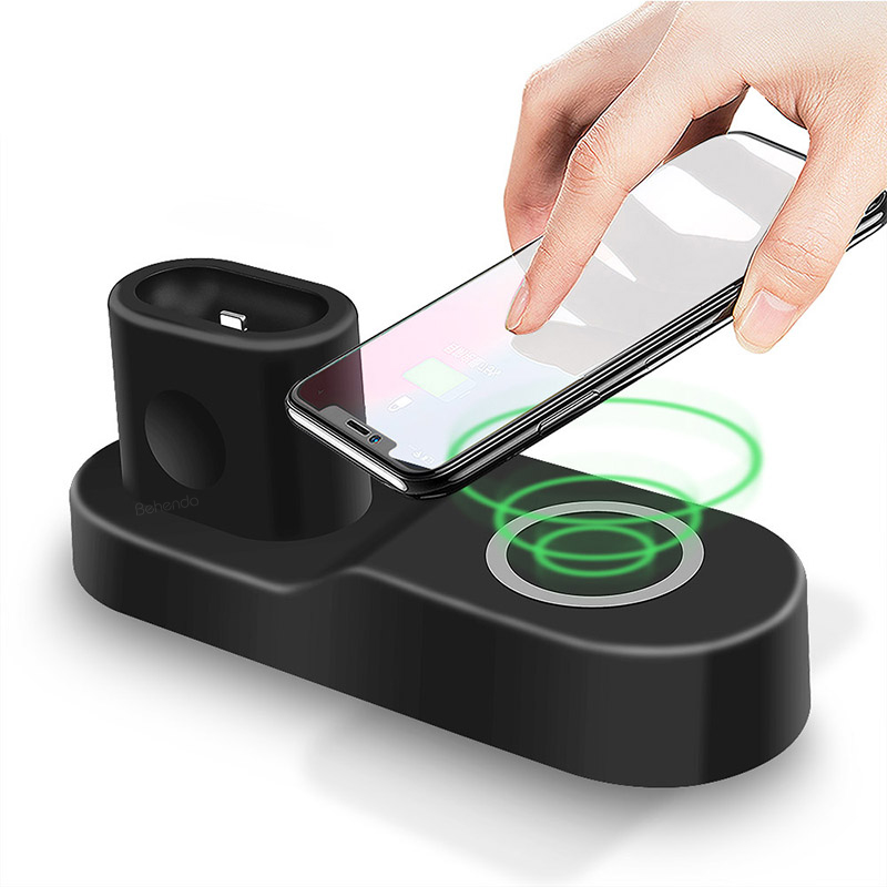 Multifunctional 4 in 1 Wireless Phone Charger Pad Convenient Wireless Charging Dock For iphone for ipad for Apple <strong>watch</strong>