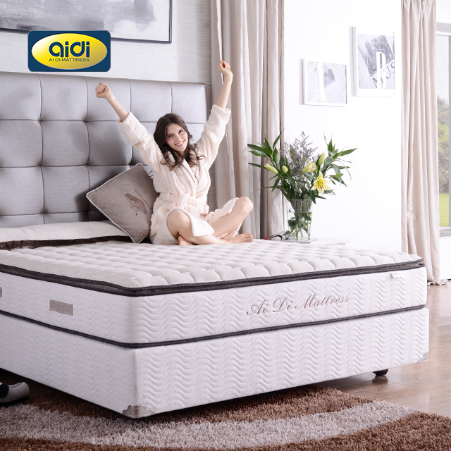 New design white nylon OEM king size beautiful plump pillow top promotional latex wholesale mattress for home - Jozy Mattress | Jozy.net
