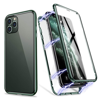 Beyour For OPPO Reno 10 X 2Z 3 4 Pro Realme X50 6 Pro 6i C3 double-sided metal explosion-proof tempered glass phone <strong>case</strong>