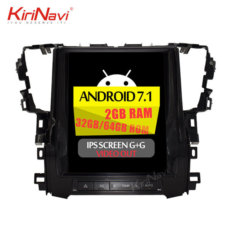 KiriNavi Vertical screen android 7.1 <strong>12</strong>.1'' car multimedia system for toyota Alphard 2015-2018 with 2 din car dvd player wifi 4g