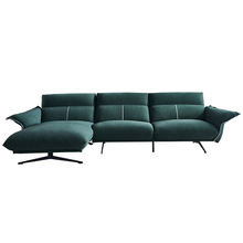 Italian light luxury Technology cloth three-person down sofa Nordic minimalist living room combination small household <strong>furniture</strong>