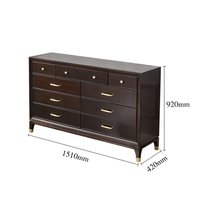 New design bedroom furniture modern wooden high chest of drawer