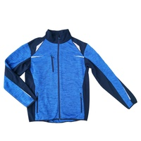 Hight quality polyester knitted cloth running multiple pockets casual jacket men
