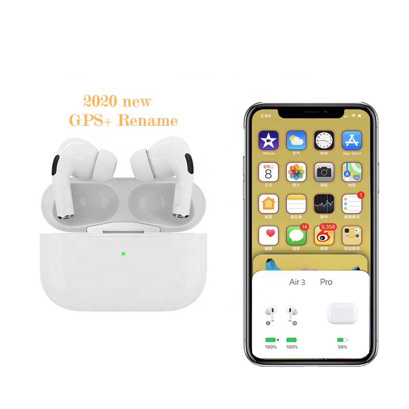 2020 Latest <strong>Air</strong> Pro 3 tws 1:1 Popup Window Rename Wireless Charge GPS BT 5.0 TWS Earphone Headphone i500 i800 i200 i1000 i9000