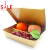 4 compartments disposable paper lunch box