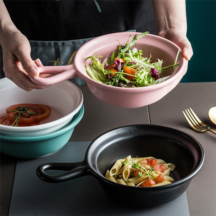 Fancy good quality unique restaurant mixing bowls ceramic salad bowl for fruit and vegetables