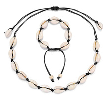 women white real natural choker cowrie shell necklace