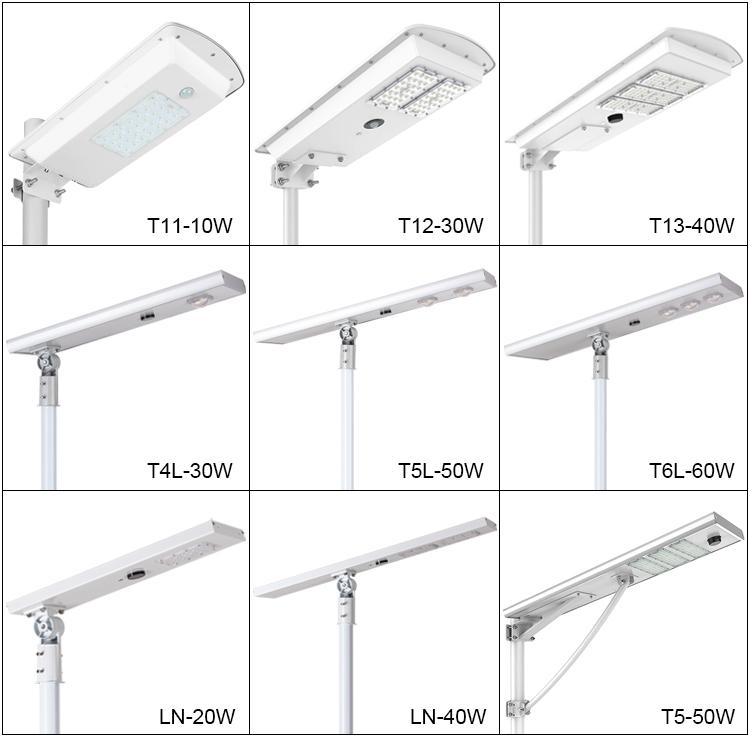 smart motion sensor outdoor 25w 30w integrated power energy solar led street lamp