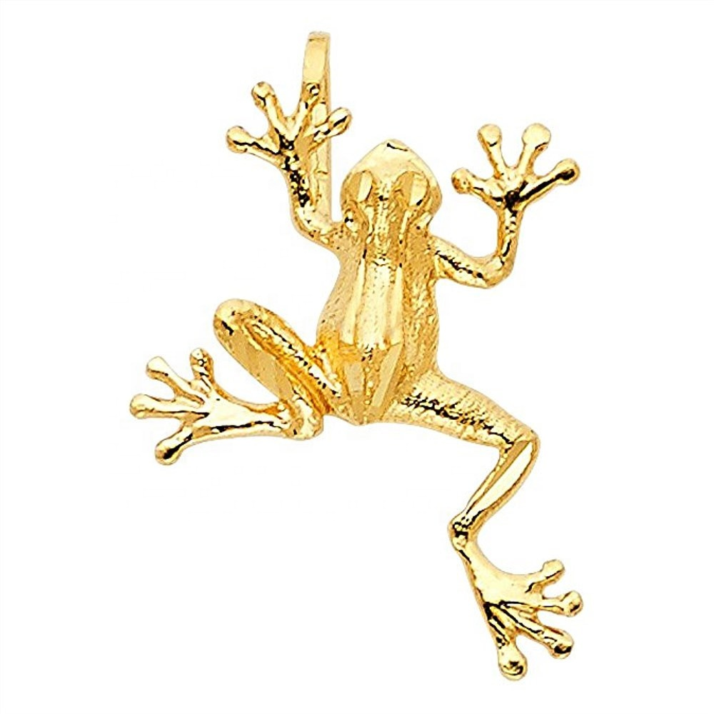 2019 <strong>fashion</strong> 18k gold plated animal charms diy jewelry accessories frog pendant for necklace making