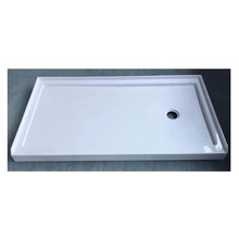 Popular shower base <strong>waste</strong> high-gloss shower base artificial stone shower pan
