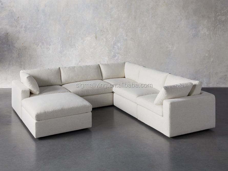 modern home living room sets indoor furniture Modular 6-piece chaise Sectional sofa set