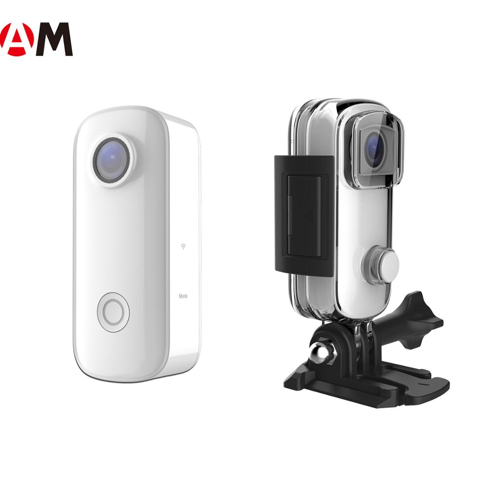 SJCAM factory support unique design cheap and portable <strong>C100</strong> 1080p full hd action <strong>camera</strong> share image on TikTok Instagram Vlog