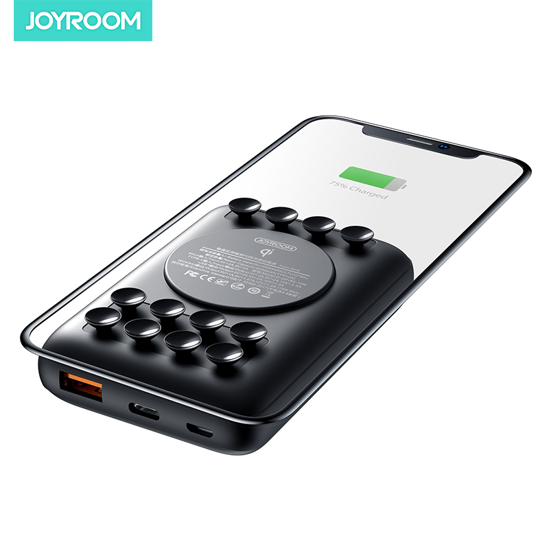 JOYROOM fast charge pd suction powerbank 10000 mah mini battery charger 18w qi wireless power bank
