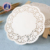 "6.5"" Disposable white lace paper doyleys for cake/round lace paper doilies 16.5cm"