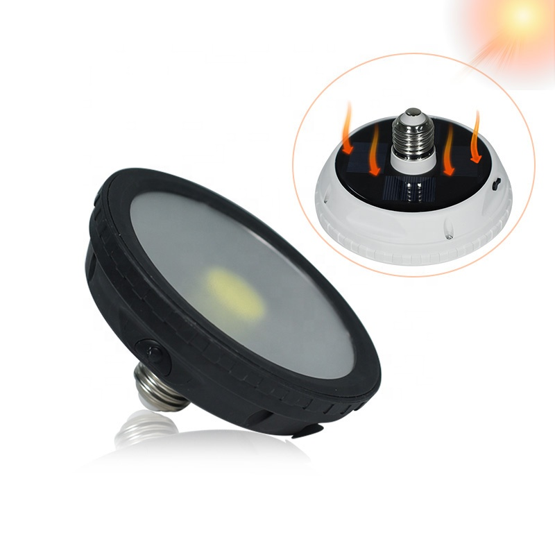 Solar automatic charging led emergency rechargeable light <strong>bulb</strong> 10w with battery
