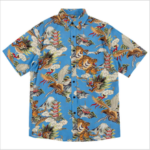 American Retro High Street Clothes Dragon Tiger Eagle Printed Hawaiian Beach <strong>Men</strong> Casual <strong>Shirt</strong>