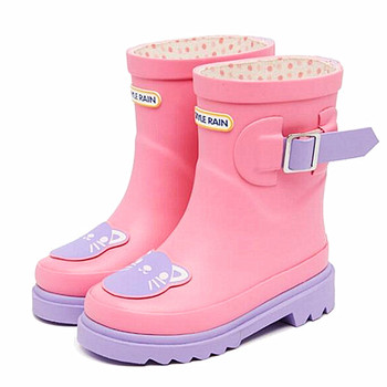 Wholesale factory Fashion half waterproof rubber galoshes for kids