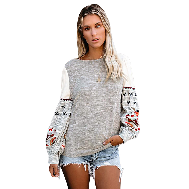 New Arrive Fashion Spring Women Sweatshirt Contrast Printed Long Sleeve Casual Pullover Hoodie Womens Sweatshirt