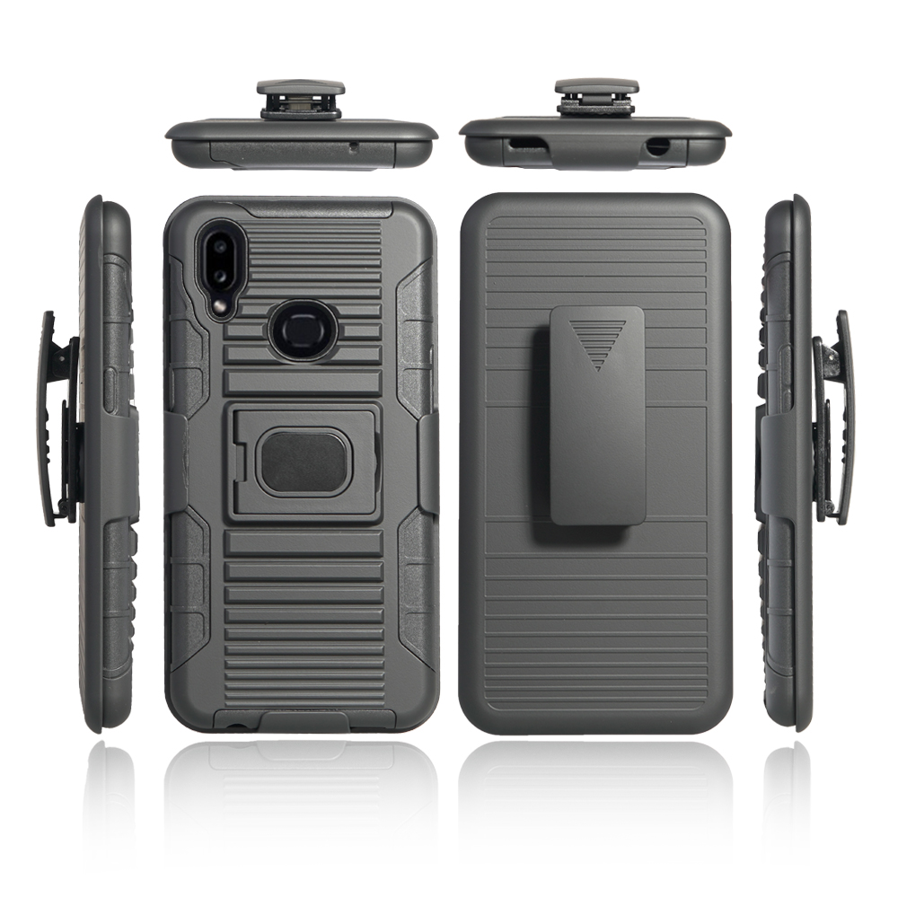 3 in 1 super robot 360 full cover holster belt clip phone case for samsung galaxy <strong>A10s</strong>