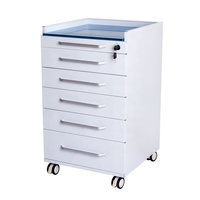 Clinic furniture medical mobile dental cabinets with drawers