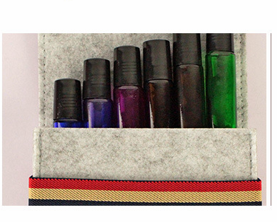 Essential Oil Carrying Case for 6 Bottles, 5ML/10ML/ 15ML Essential Oils Travel Organizer Storage Pouch Bag