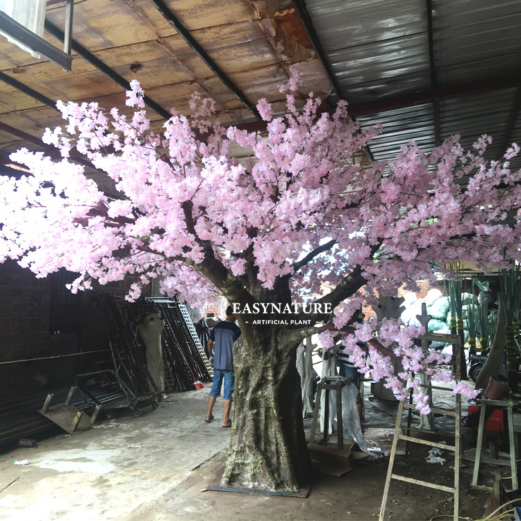 Customize outdoor big plastic cherry blossom tree artificial plant, artificial trees for outdoor