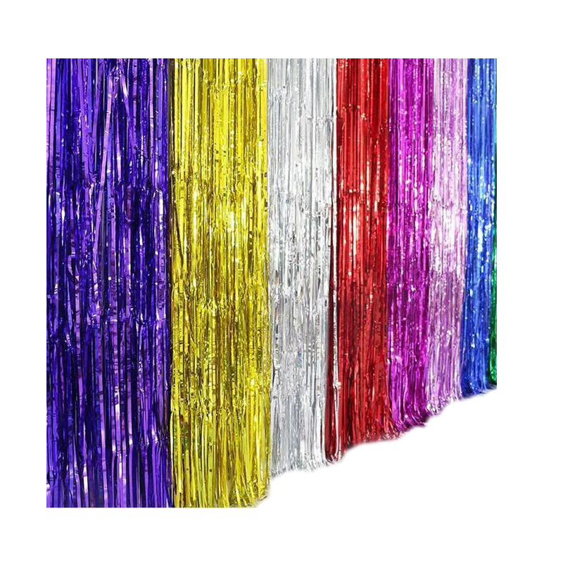 Metallic Foil Curtain Red Photo Booth Backdrop Tinsel Curtains for Birthday Wedding Party <strong>Decoration</strong>