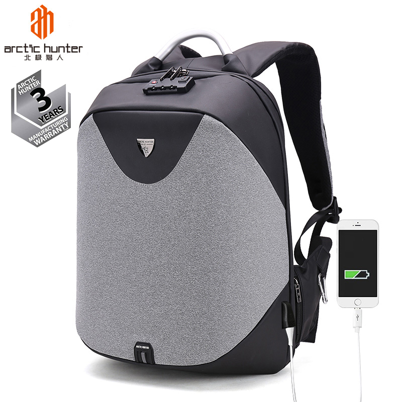 Arctic Hunter Guangzhou <strong>Backpacks</strong> Factory Wholesale Mochilas Bag ODM OEM Business Waterproof Anti Theft Smart Laptop <strong>Backpack</strong>
