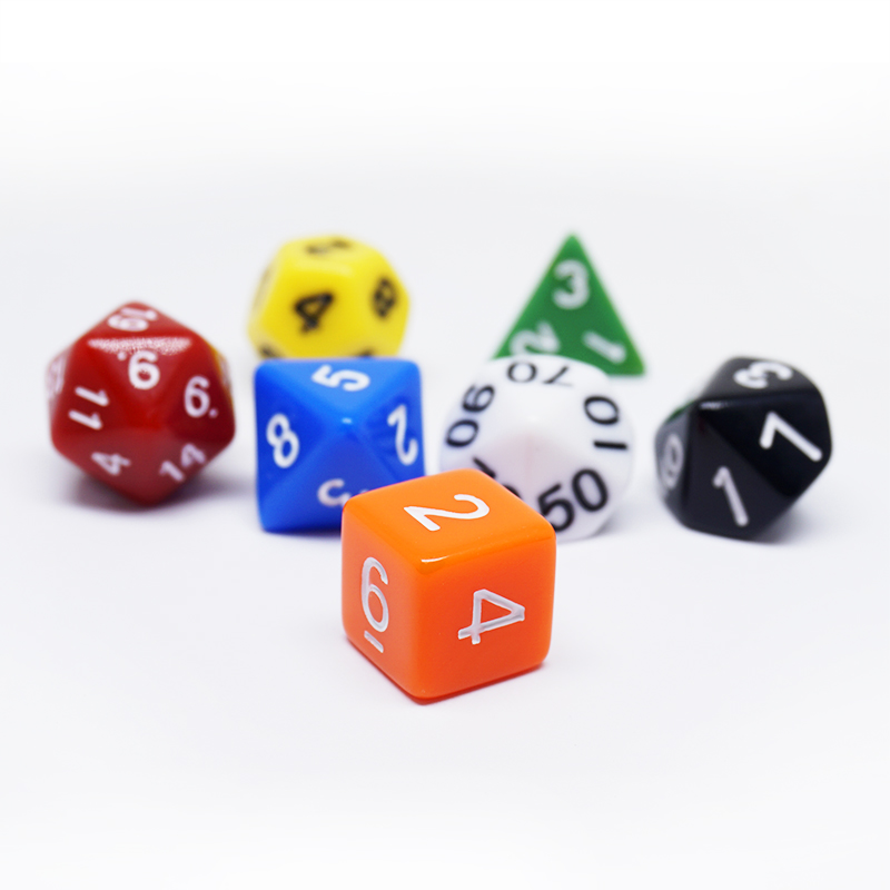 Mixed Color 7pcs D4 D6 D8 D10 D% <strong>D12</strong> D20 Dice Set Dungeons &amp; Dragons Game Dice Set
