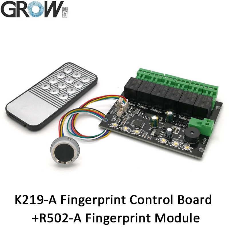 GROW K219-A+R502-A Programmable Multiple Relay Fingerprint Infrared Remote Controller Control Board