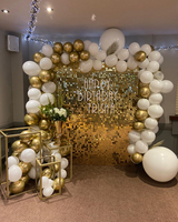 2019 hot sale luxury golden silver customizable sequins background wall birthday party stage decoration backdrop