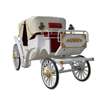 Luxury four wheels sightseeing horse and carriage ride on car