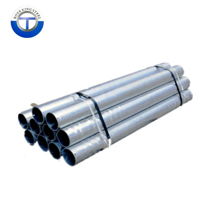 Round metal steel pipe length 1inch galvanized IMC iron thread pipe with <strong>caps</strong>
