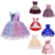 Girl Dress 3-8 Years Baby ins Princess Dresses for Kids Girls Wedding Teens Party Vestidos Infantis Kid Girls Floral Clothes