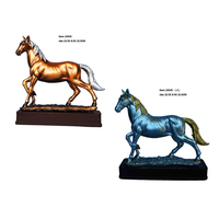 Resin crafts horse figurine polyresin statue craft exhibition souvenir trophy gifts art sculpture action home decor
