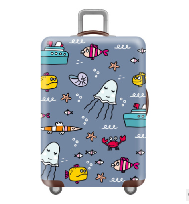 Wholesale Many Printing Designs Extra thickness Elasticity Spandex Protective Luggage Cover Spandex Suitcase Cover