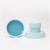 Luxury Cylinder Design Fancy Blue Round Paper Tube Gift Set Foam For Jewellery Box Packaging