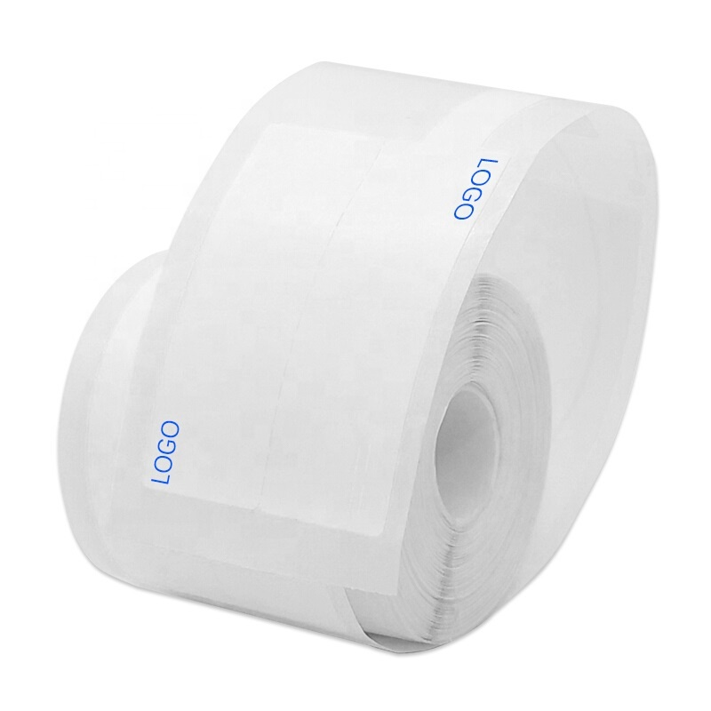 F-type <strong>P</strong>-type sticker adhesive <strong>label</strong> printing paper White 37.5*38+35mm for T-series pigtail/network cable