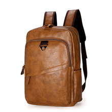 Wholesale Cheap Fashion Soft Pu Leather Backpack <strong>Bag</strong> Black Brown Hiking Student <strong>Bag</strong>