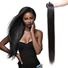 Brazilian Straight Hair 2*6 2x6 Lace Closure With Baby Hair 100% Human Hair Middle Part Lace Closure